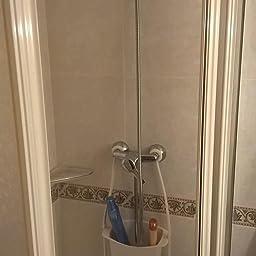 AmazonBasics - Estantería de ducha para colgar de barra o de cabezal: Amazon.es: Hogar