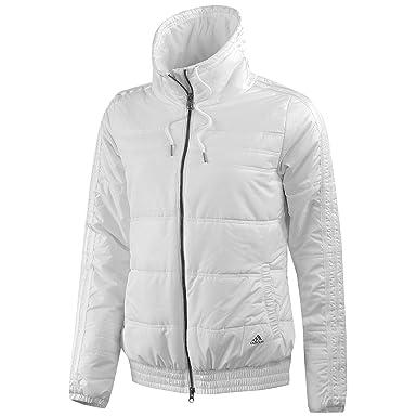5c5e64c0332 Doudoune 3 Stripes Blanc Femme Adidas  Amazon.fr  Vêtements et accessoires
