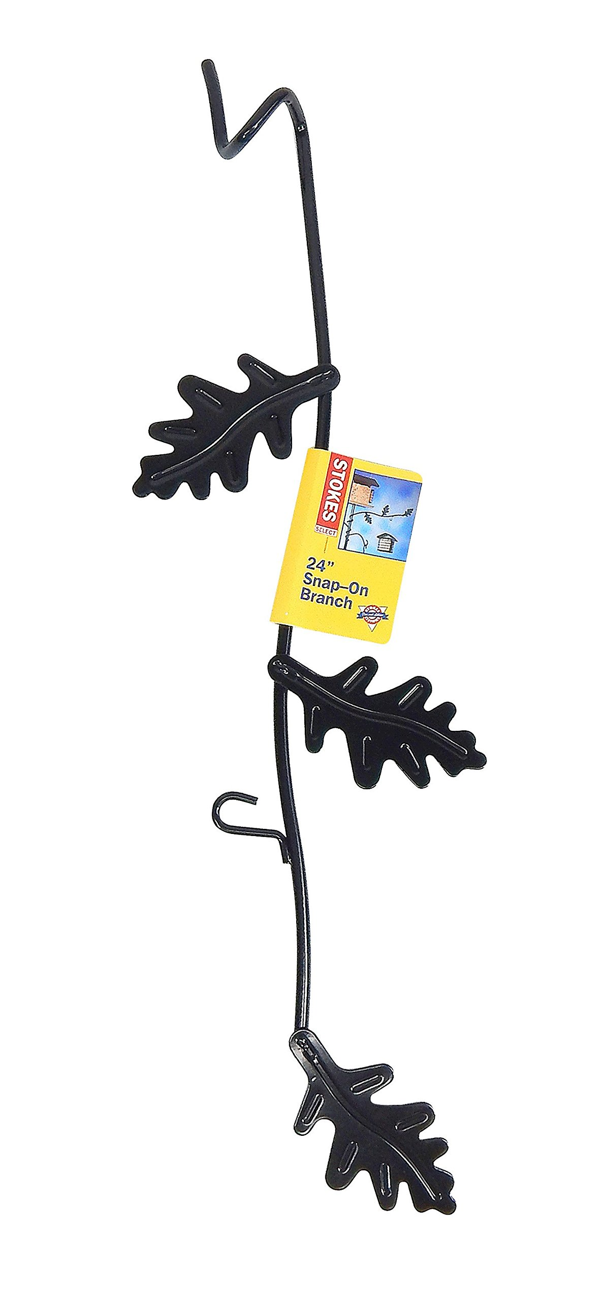Stokes Select 24-Inch Metal Snap-On Hanger with Branch and Leaf Details