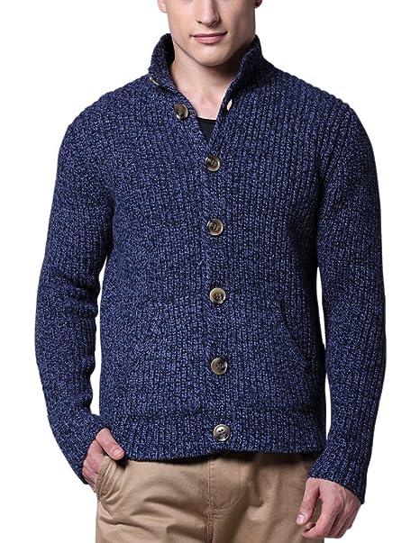 Amazon.com: Combinar para hombre suéter Series con botones ...