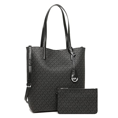 a5073dc4bf1df1 Hayley Large Logo North-South Tote Crossbody Black and Grey: Amazon.ca:  Shoes & Handbags