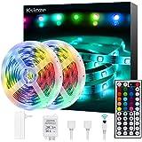 Ksipze LED Strip Lights 32.8ft RGB LED Lights Color Changing 5050 Flexible LED Light Strips with Remote and 12V Power Supply LED Lights for Bedroom Room TV Bar Kitchen Home Decoration