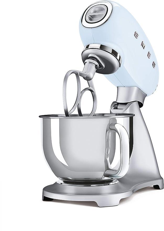 Smeg SMF02PBEU - Robot de cocina (4,8 L, acero 18/10), color azul ...