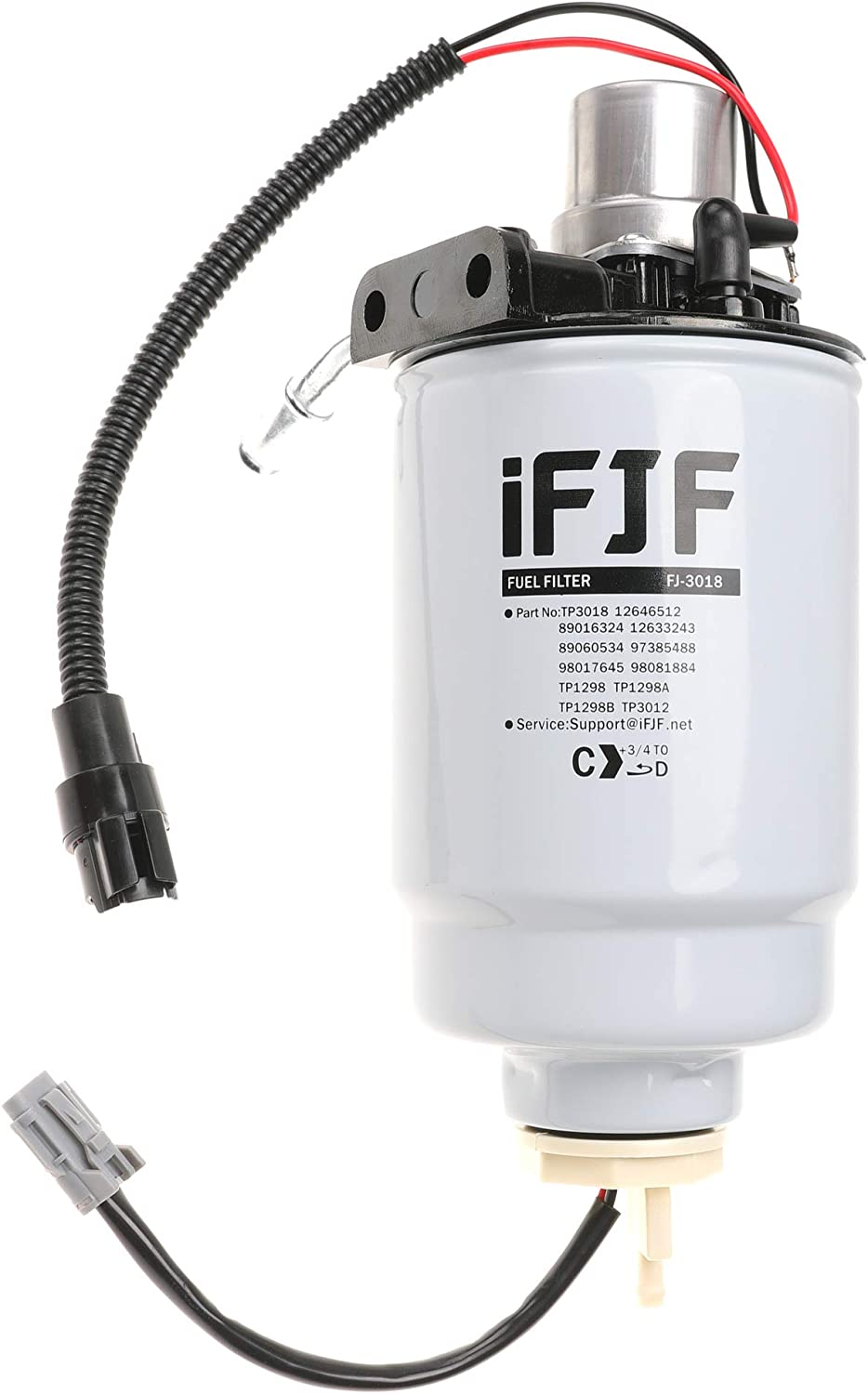 ifjf 12642623 fuel filter head for duramax fuel filter housing 6.6  replacement for gm chevrolet gmc duramax v8 6.6l fuel filter housing  2005-2013 (assembly): automotive - amazon.com  amazon.com