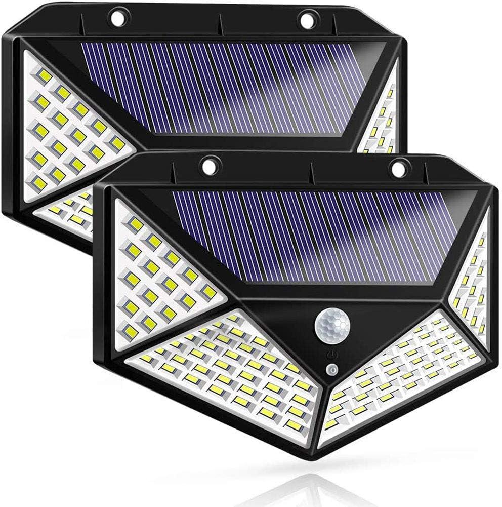 4X118LED Solar Powered PIR Motion Sensor Wall Light Outdoor Garden Lamp 3 Modes