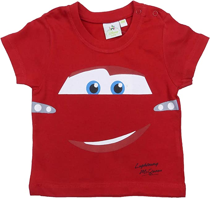 Boys Cars Lightning McQueen 100/% Cotton Top 18 Months - 6 Years