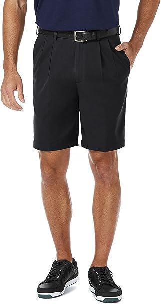 Haggar Mens Cool 18 Gabardine Flat Front Short