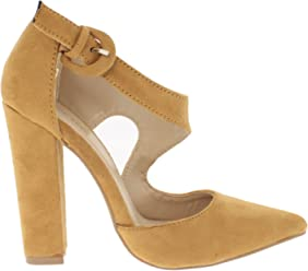 c2c4a183f76 Shoe Republic Asymmetrical D Orsay Pump with Chunky Heel Chelly