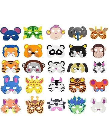 COSORO 25 Mascarillas de espuma EVA para niños para bolsas de fiesta, máscara, fiesta