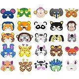 COSORO 25 Mascarillas de espuma EVA para niños para bolsas de fiesta, máscara, fiesta de cumpleaños, Navidad, Halloween