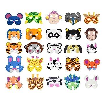 COSORO 25 Mascarillas de espuma EVA para niños para bolsas de fiesta, máscara, fiesta de cumpleaños, Navidad, Halloween: Amazon.es: Hogar