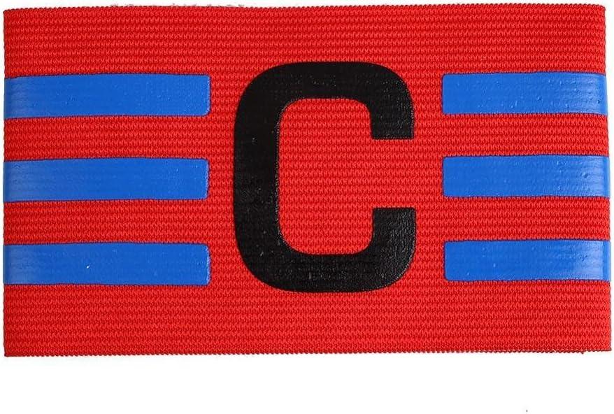 JEANGO Fascia da Capitano da Calcio 5 Colori 10 PCS Adulto e Giovani Calcio Fascia da Capitano per Calcio Rugby Hockey e Altri Sport