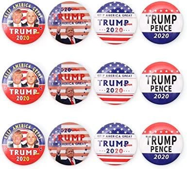 """3-Pack VICTORY President Donald Trump BUTTONS 2.25/"""" /& 3/"""" Pinback Badges pins"""