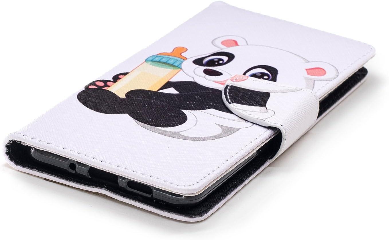 Lomogo Leather Wallet Case with Kickstand Card Holder Shockproof Flip Case Cover for Nokia3.1 LOBFE13127#7 Nokia 3.1 Case