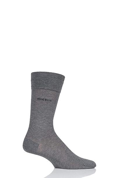 d8a5ed606 Hugo Boss Men George 100% Mercerised Cotton Plain Socks Pack of 1 Light  Grey 7.5