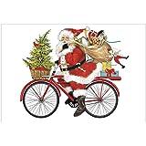 Mary Lake Thompson Flour Sack Towel - Santa Red Bike
