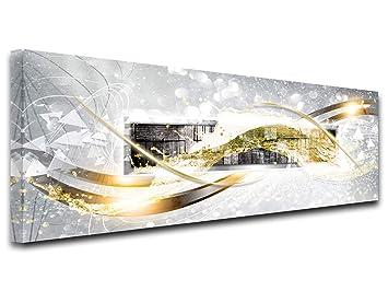 Declina Tableau Decoration Murale Salon Moderne Cadres Decoratif Mural Tableau Toile Decoration Abstraite Bois 120x50 Cm Multicouleur