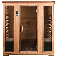 SaunaMed 4 Person Luxury Cedar FAR Infrared Sauna