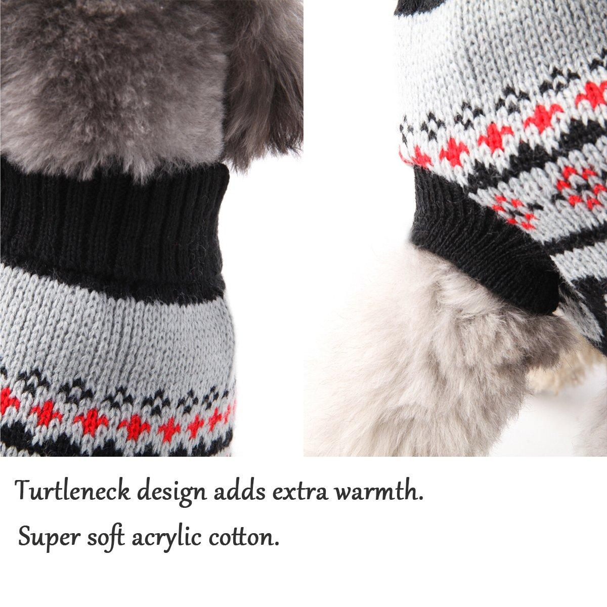 Perro Jumpers abrigo caliente para perros Navidad reno tejer ...