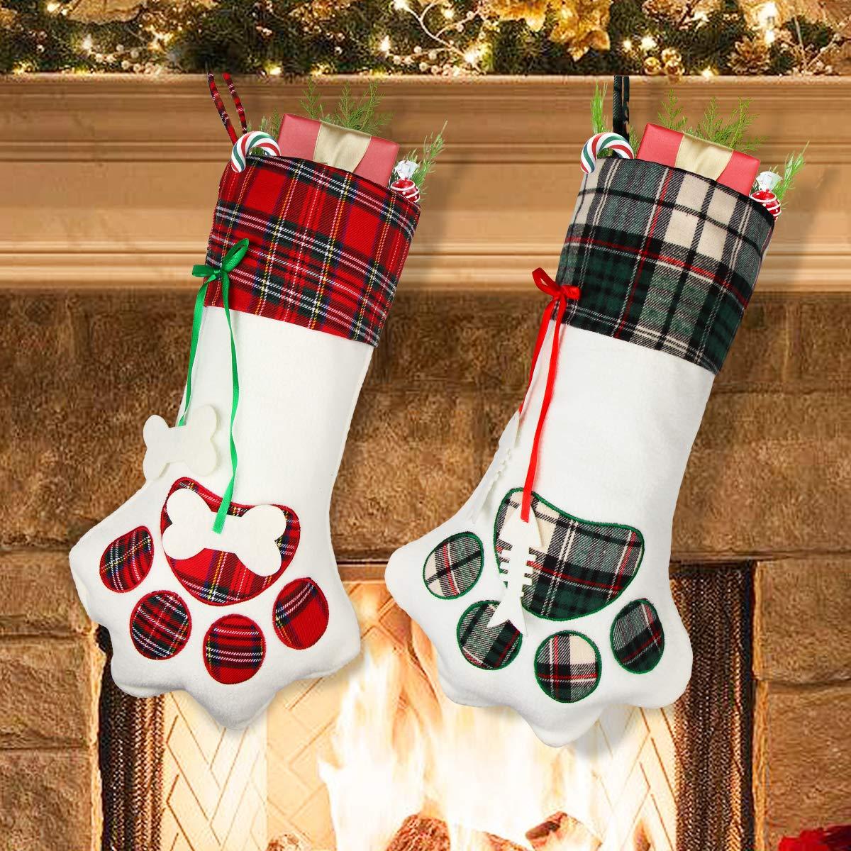350608443e3b7 Amazon.com  Aiduy Pet Christmas Stocking