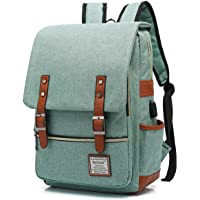 UGRACE Vintage Laptop Backpack with USB Charging Port, Elegant Water Resistant Travelling Backpack Casual Daypacks…