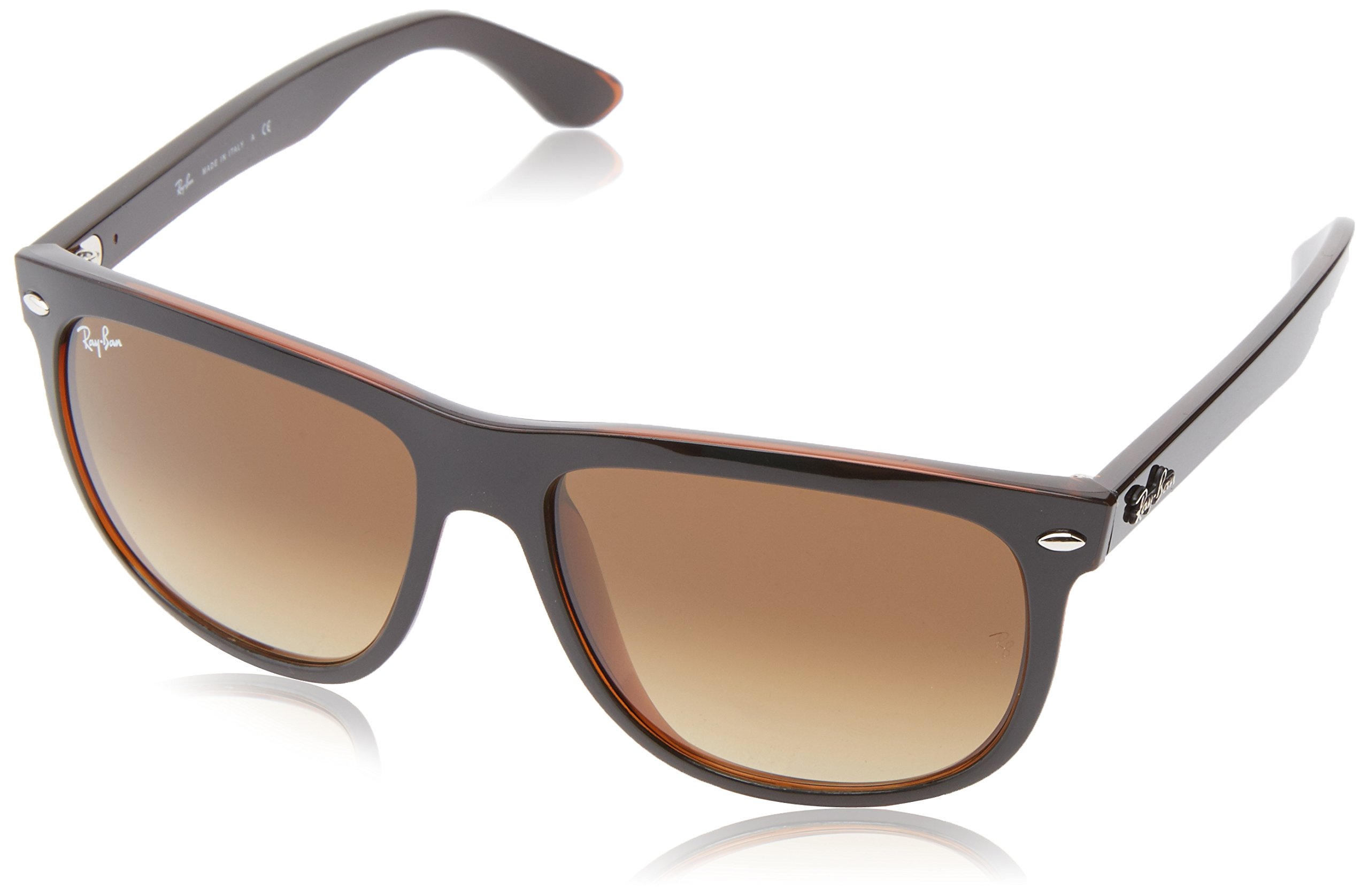 Ray-Ban RB4147 - TOP BLACK ON BROWN Frame BROWN GRADIENT DARK BROWN Lenses 56mm Non-Polarized