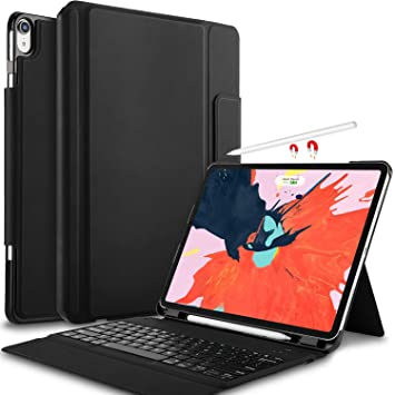 Amazon.com: IVSO Funda con Teclado para iPad Pro 12.9 2018 ...