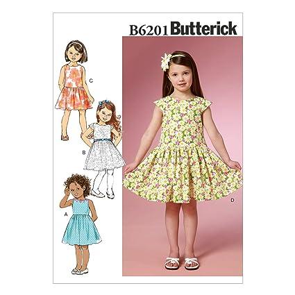 Butterick Patterns 6201 CDD Sizes 2//3//4//5 Children/'s//Girls Dress CDD 2-3-4-5