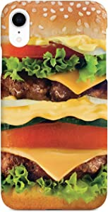 Inspired Cases - 3D Textured iPhone XR Case - Rubber Bumper Cover - Protective Phone Case for Apple iPhone XR - Cheeseburger