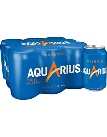 Aquarius - Bebida Con Sabor De Naranja - Paquete de 9 x 330 ml - Total