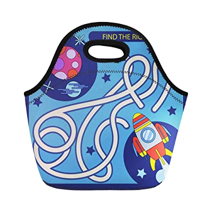 cf6b7d9d6386 Amazon.com: Semtomn Lunch Bags Find the Right Path From Rocket to ...