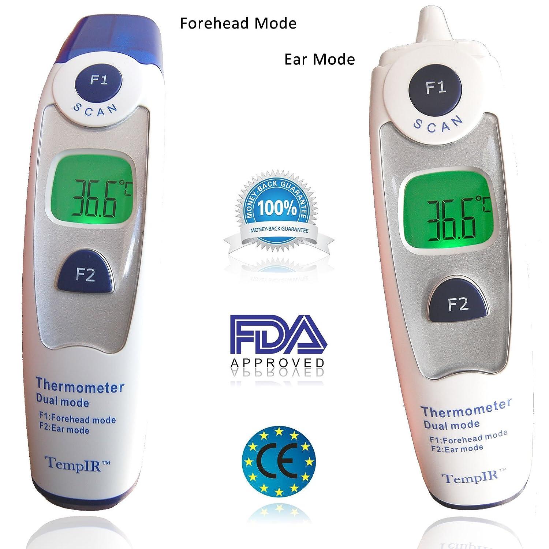 Mejor Termómetro de Bebé Frente y Oído FDA y CE Aprobado Certificación