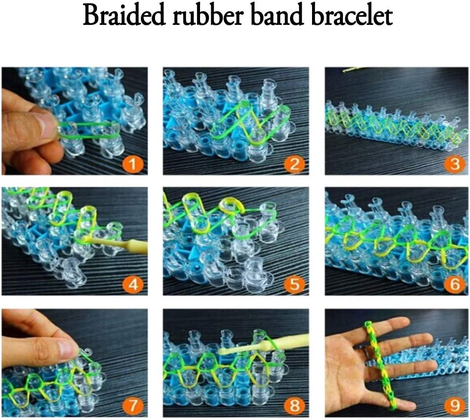 Efaster S Clip,200//300//600 Pcs S Clips for Loom Rubber Band /& DIY Bracelet Making Refill Kit 300 Pcs