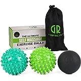 Guard Revival gr Massage Ball set per la schiena e dolore al piede–Set di 3palline + Lacrosse '–migliore per fascite plantare trattamento con riflessologia, agopressione e trigger point terapia