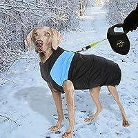 PaWz Dog Jacket Large Pet Jackets Coat Waterproof Clothes Winter Vest Blue 3XL 3XL 3XL