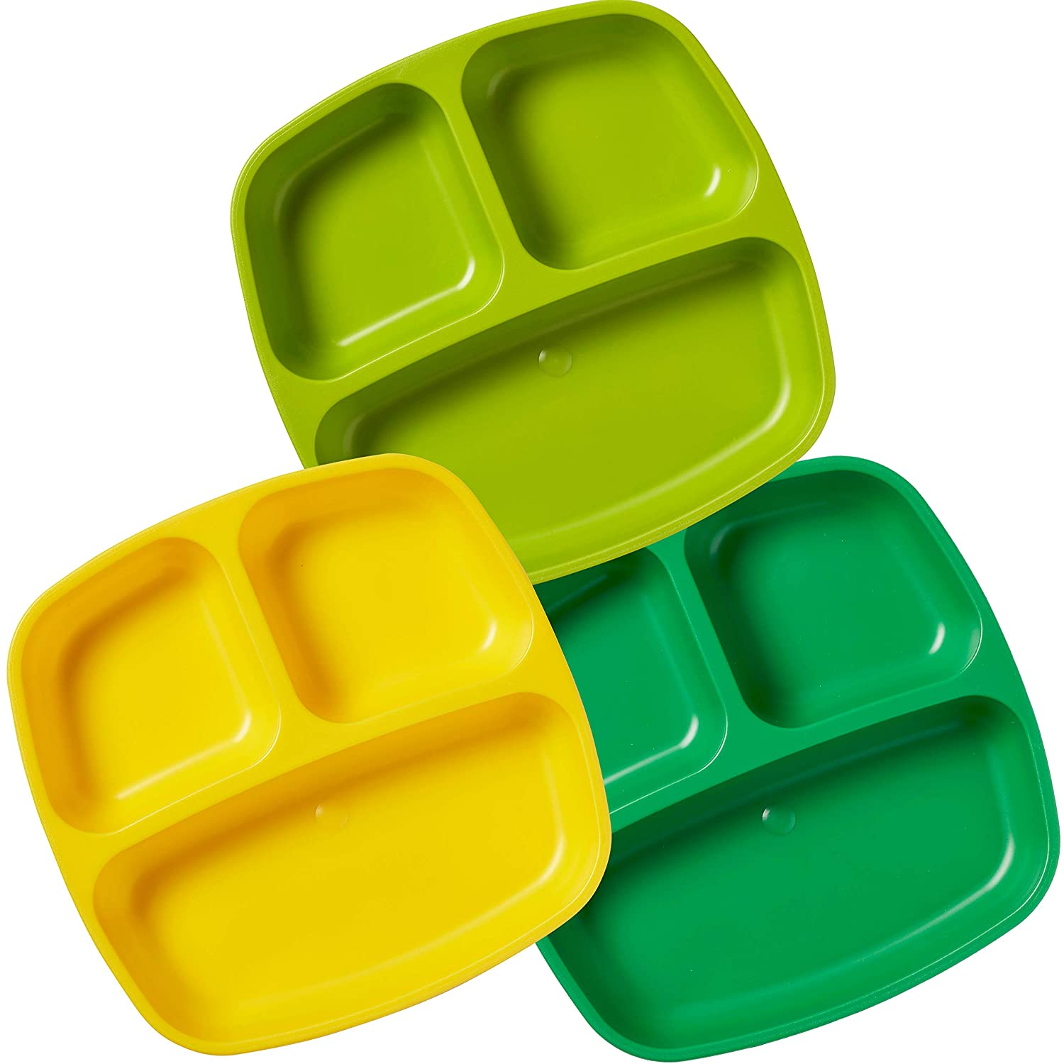 ECR4Kids My First Meal Pal Divided Toddler Plates 3pc