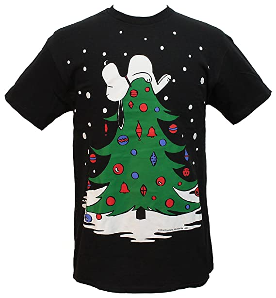 df4033978e5 peanuts mens snoopy sleeping on christmas tree holiday t shirt small