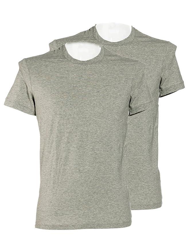 Dolce & Gabbana Day by Day de Hombre de 2 Pack Pack Cuello Redondo Camiseta de Stretch de Cotton (Gris) Gris 1 Mes: Amazon.es: Ropa y accesorios