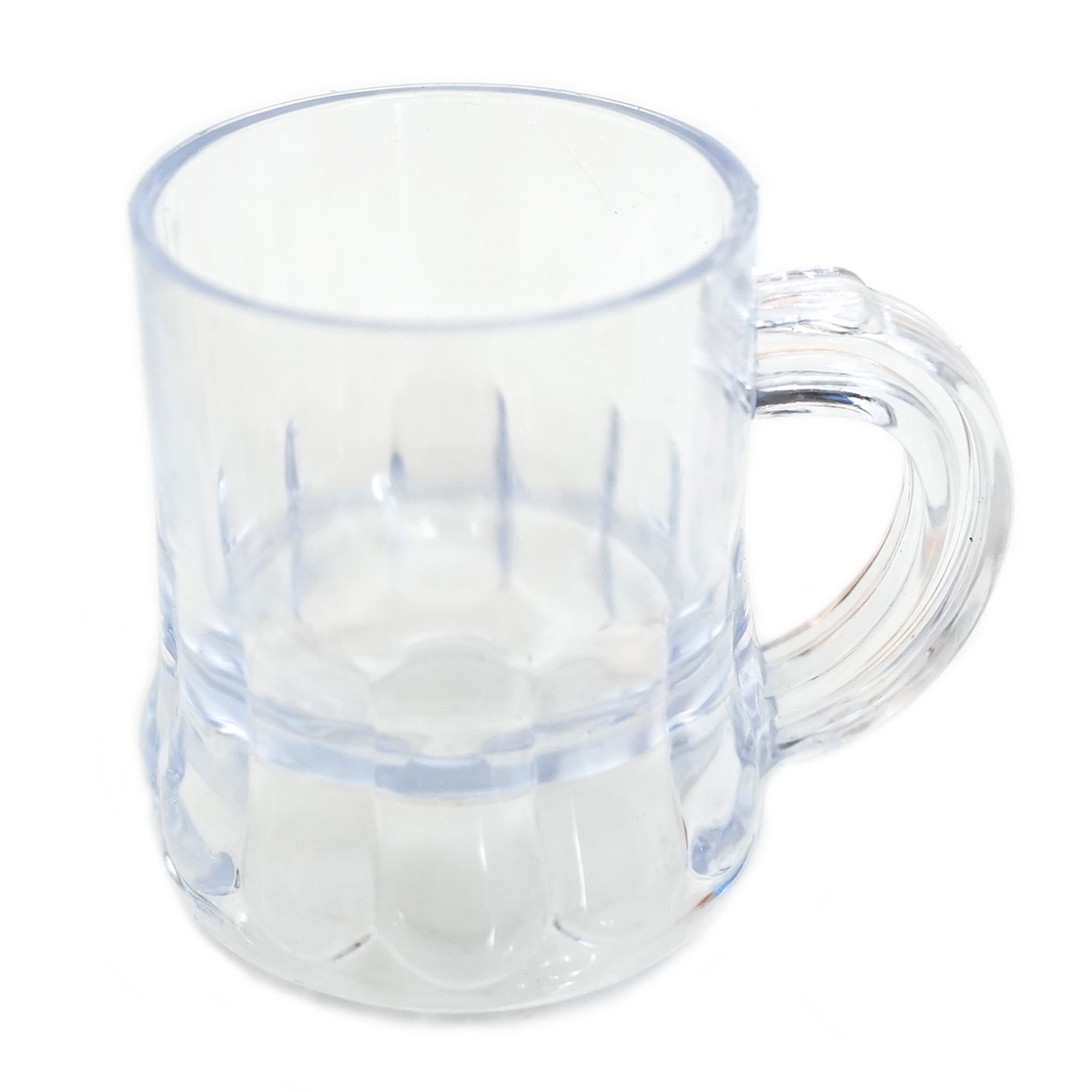 Mini Clear Plastic Beer Mug Shot Glasses- 1.75'' Tall (36 Count) by New Paradise
