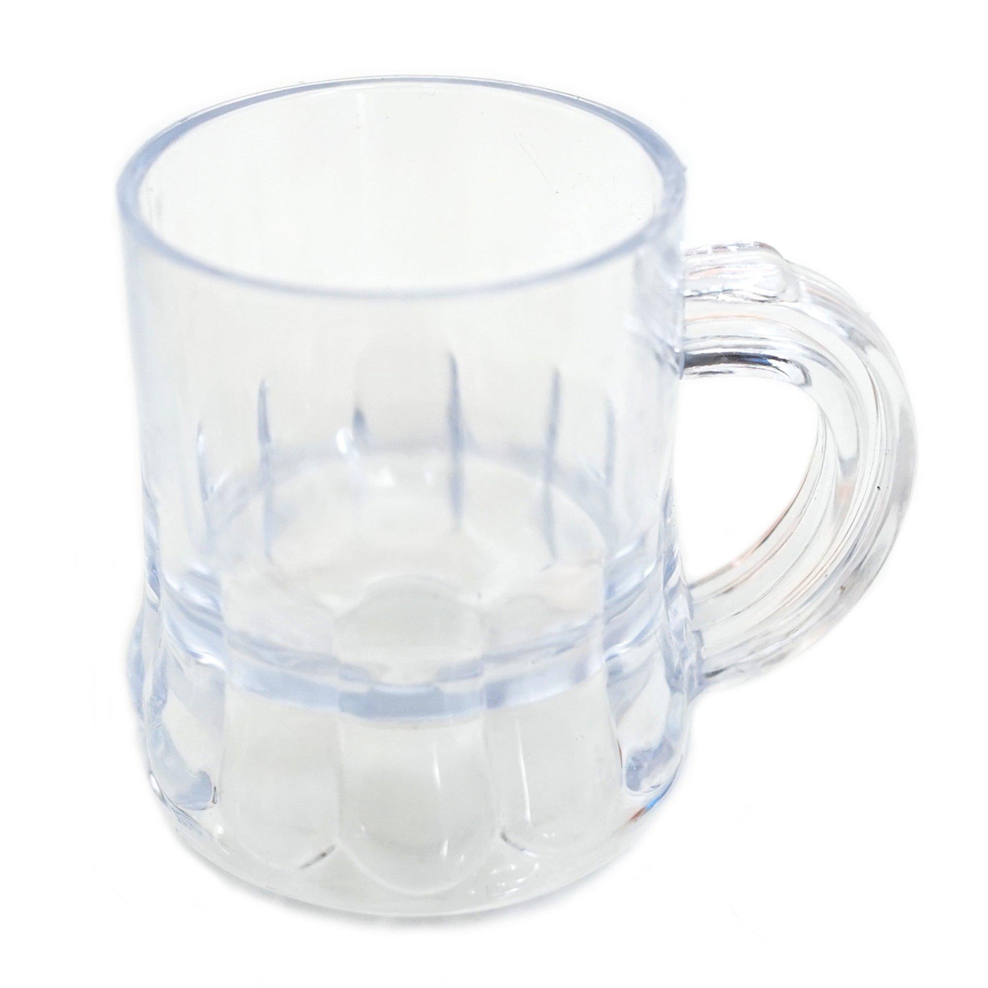Mini Clear Plastic Beer Mug Shot Glasses- 1.75'' Tall - (12 Count)