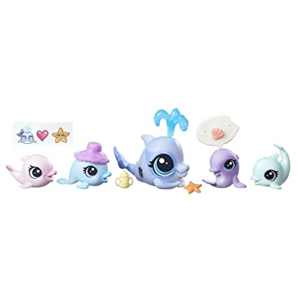 Amazoncom Littlest Pet Shop Dolphin Family Toys Games