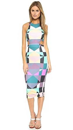 Amazon Com Mara Hoffman Women S Cutout Midi Dress Diamonds Plum