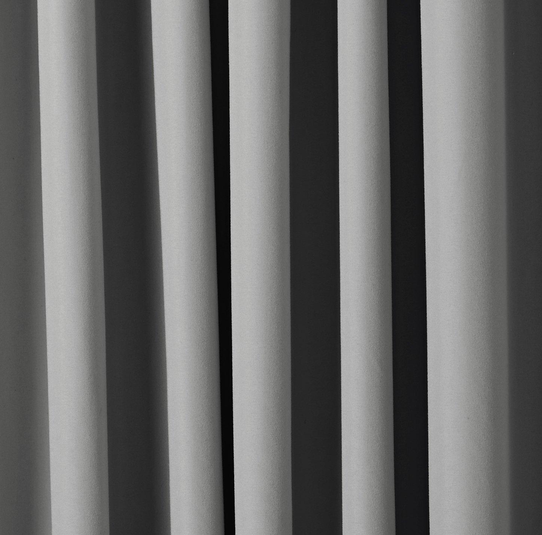 2 St/ück Beige 117/x/137/cm BxL Basics w/ärmeisolierender Verdunkelungsvorhang