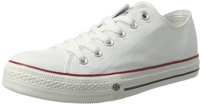 Scarpe da ginnastica basse da donna in tela con punta in gomma, modello Baltimore/Academy, scarpe da ginnastica