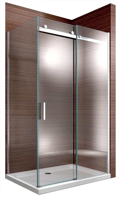 Cabina de ducha Nano 8 mm Cristal ex806 Puerta corrediza – 80 x 120 x 195 cm: Amazon.es: Hogar