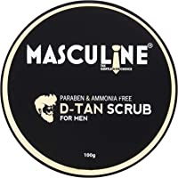 Masculine D-Tan Scrub For Men For Skin Exfoliation/Tan Removal, 100 g