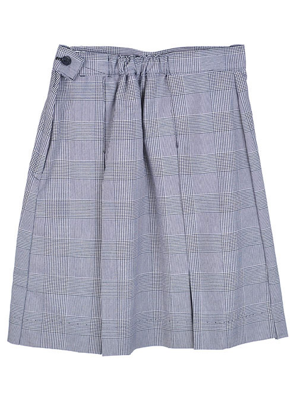 Cookie's Brand Big Girls' Box Pleat Skirt - white/navyplaid #38, 14