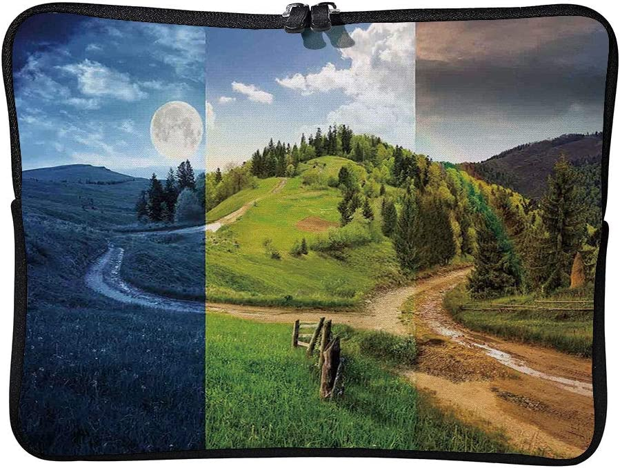 C COABALLA Apartment Decor,Collage of Three Autumn Laptop Sleeve Case Neoprene Carrying Bag for Any Tablet//Notebook AM003499 15 inch//15.6 inch