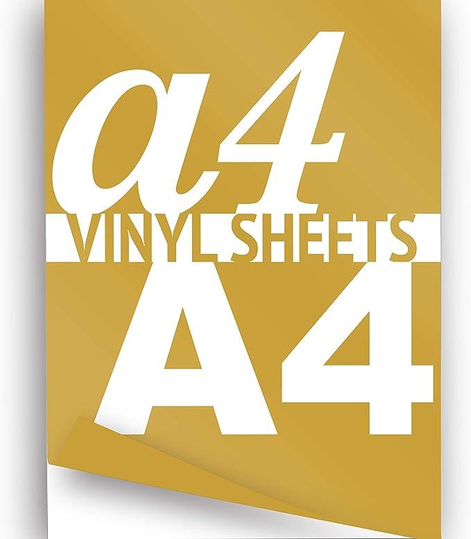 Vinilo imprimible A4 hoja dorado 297 x 210 mm brillante 2 x autoadhesivo adhesivo papel: Amazon.es: Hogar