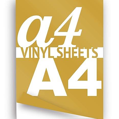 Vinilo imprimible A4 hoja dorado 297 x 210 mm brillante 2 x autoadhesivo adhesivo papel
